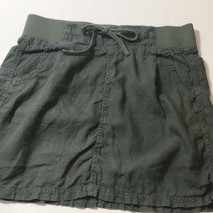 Athleta Linen Drawstring Skirt